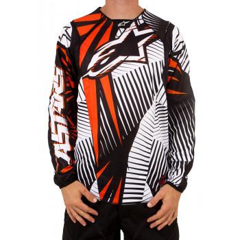 Кроссовая футболка (джерси) Alpinestars Techstar Orange-Black XL