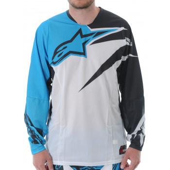 Кроссовая футболка (джерси) Alpinestars Techstar Cyan Black L