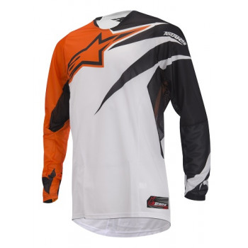Кроссовая футболка (джерси) Alpinestars Techstar Orange-Black L