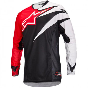 Кроссовая футболка (джерси) Alpinestars Techstar Black-Red S