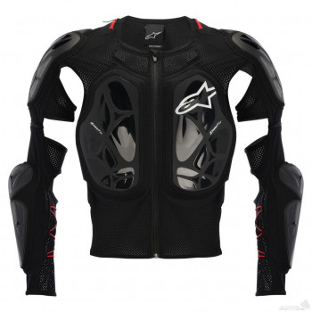 Моточерепаха Alpinestars BIONIC TECH Black-White-Red XL