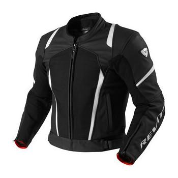 Мотокуртка REVIT GALACTIC текстиль-кожа Black-White 48