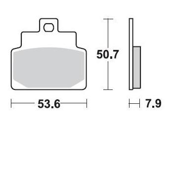 Тормозные колодки Braking BR 842SM1