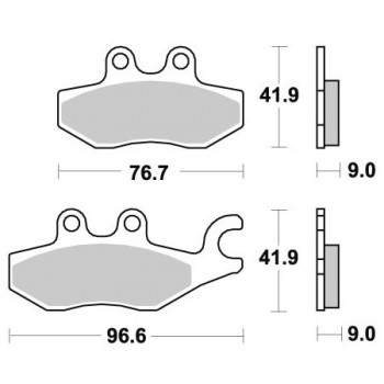 Тормозные колодки Braking BR 953SM1