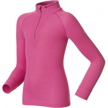 Термофутболка детская Odlo Shirt L/S Turtle Neck Zip Warm Violet Pink 140 (2013)