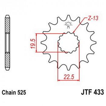 Звезда передняя JT Sprockets JTF433.14