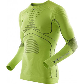 Термофутболка X-bionic Energy Accumulator Evo Man Shirt Long Green Lime-Charcoal S-M (2014)
