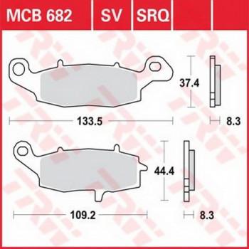 Колодки тормозные Lucas MCB682SV
