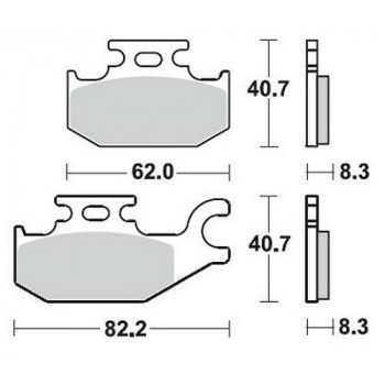 Колодки тормозные Braking BR 935CM44