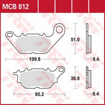 Колодки тормозные дисковые Lucas MCB812