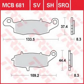 Колодки тормозные дисковые Lucas MCB681SV