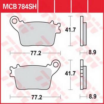 Колодки тормозные дисковые Lucas MCB784SH