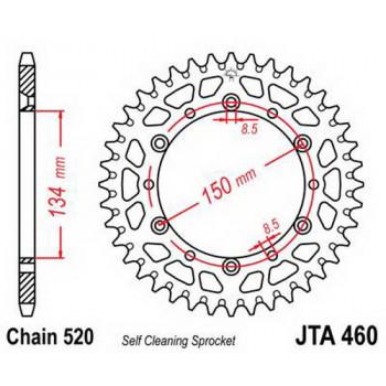 Звезда задняя легкосплавная JT Sprockets JTA460.50