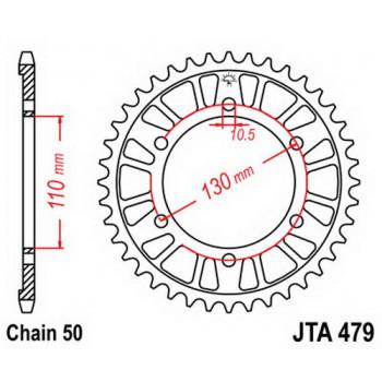 Звезда задняя легкосплавная JT Sprockets JTA479.44