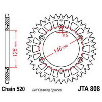 Звезда задняя легкосплавная JT Sprockets JTA808.50