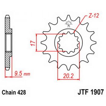 Звезда передняя JT Sprockets JTF1907.14
