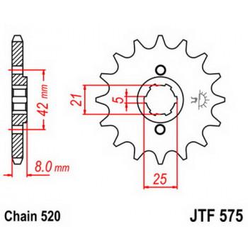 Звезда передняя JT Sprockets JTF575.16