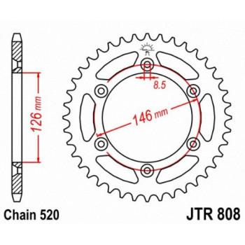Звезда задняя JT Sprockets JTR808.50