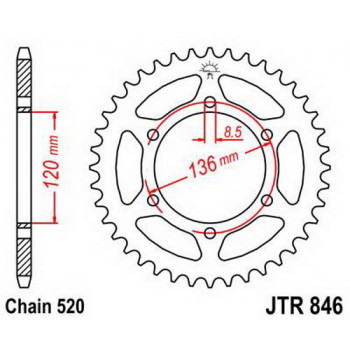 Звезда задняя JT Sprockets JTR846.45