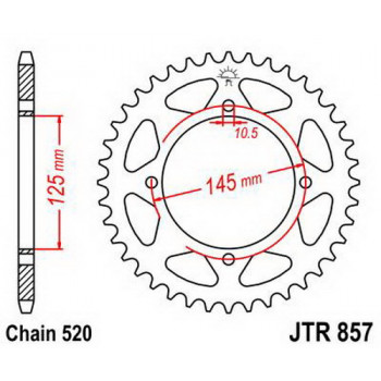 Звезда задняя JT Sprockets JTR857.46
