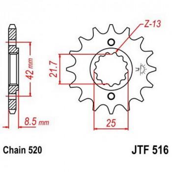 Звезда передняя JT Sprockets JTF516.14