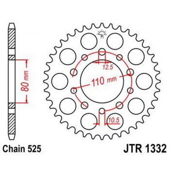 Звезда задняя JT Sprockets JTR1332.43