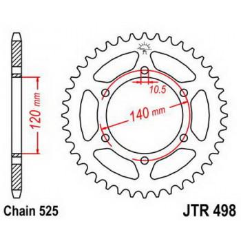 Звезда задняя JT Sprockets JTR498.38
