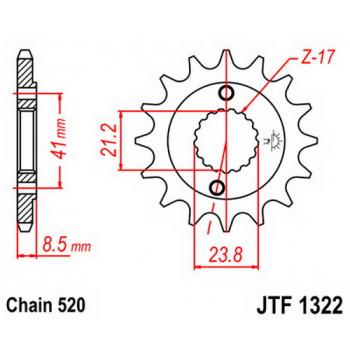 Звезда передняя JT Sprockets JTF1322.14