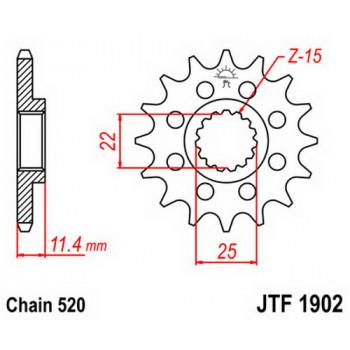 Звезда передняя JT Sprockets JTF1902.16