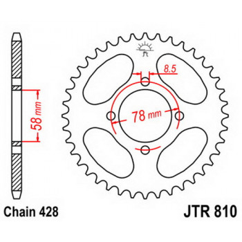 Звезда задняя JT Sprockets JTR810.50