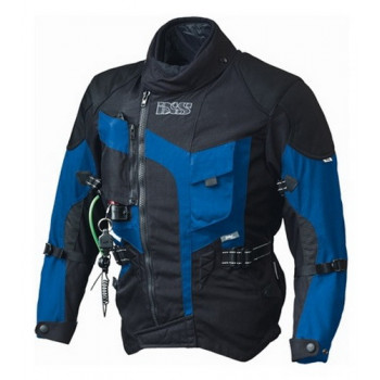 Мотокуртка IXS Stunt Airbag Black-Blue 3XL