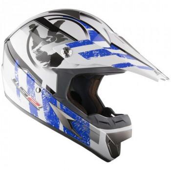 Мотошлем LS2 MX433.92 Stripe White-Blue L