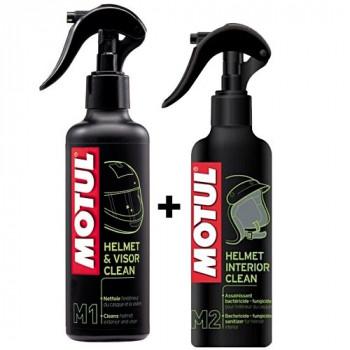 Набор комплексной очистки шлема и визора Motul M1+M2