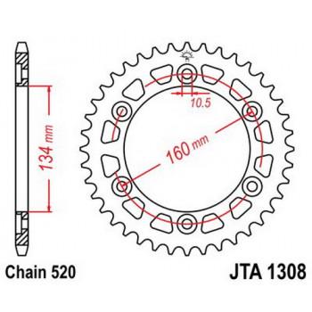 Звезда задняя легкосплавная JT Sprockets JTA1308.40