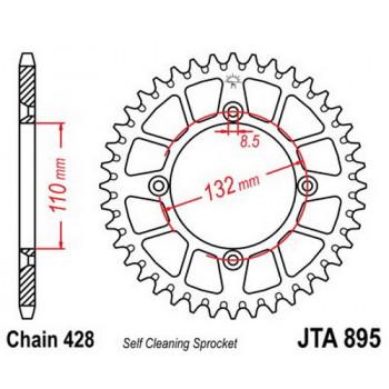 Звезда задняя легкосплавная JT Sprockets JTA895.49