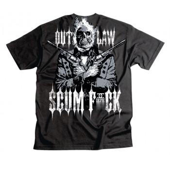 Мотофутболка Sikspak Outlaw Scumfuck Black M