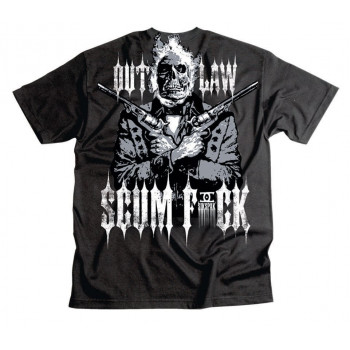 Мотофутболка Sikspak Outlaw Scumfuck Black XL