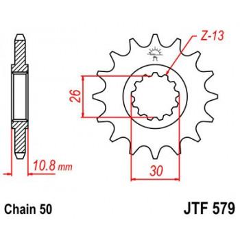 Звезда передняя JT SPROCKETS JTF579.16
