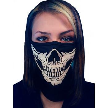 Маска лицевая DF White Skull