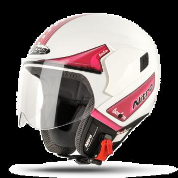 Мотошлем Nitro NGJP Bon Bon White-Pink L