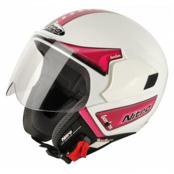 Мотошлем Nitro NGJP Bon Bon White-Pink XL