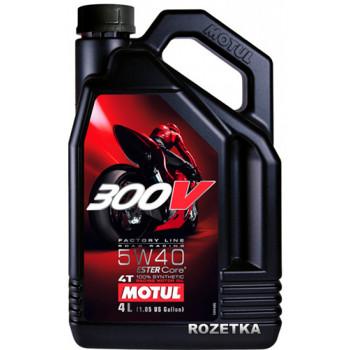 Моторное масло Motul 300V 4T Factory Line 5W-40(1L)