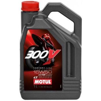 фото 1 Моторные масла и химия Моторное масло Motul 300V 4T Factory Line 15W-50(4L)