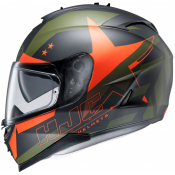 Мотошлем HJC IS17 ARMADA MC7F Black-Green-Orange L