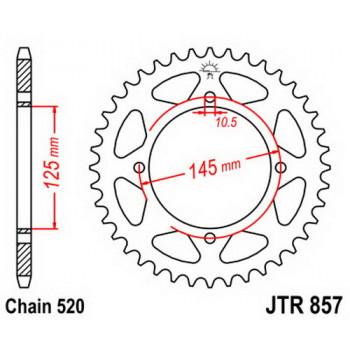 Звезда задняя JT Sprockets JTR857.39
