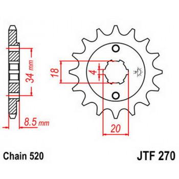 Звезда передняя JT Sprockets JTF270.14