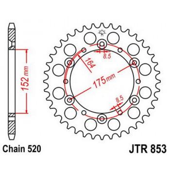 Звезда задняя JT Sprockets JTR853.47