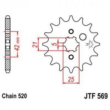 Звезда передняя JT Sprockets JTF569.14