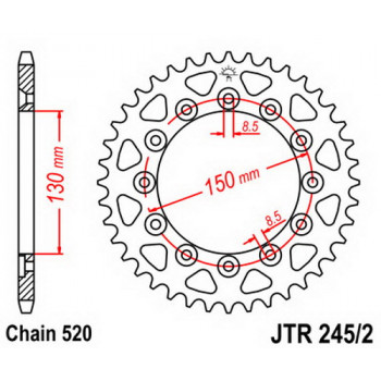 Звезда задняя JT Sprockets JTR245/2.44