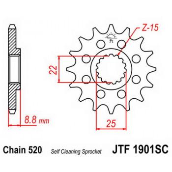 Звезда передняя JT Sprockets JTF1901.13SC